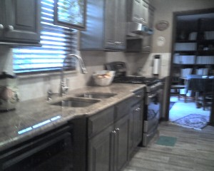 sink and stove area
