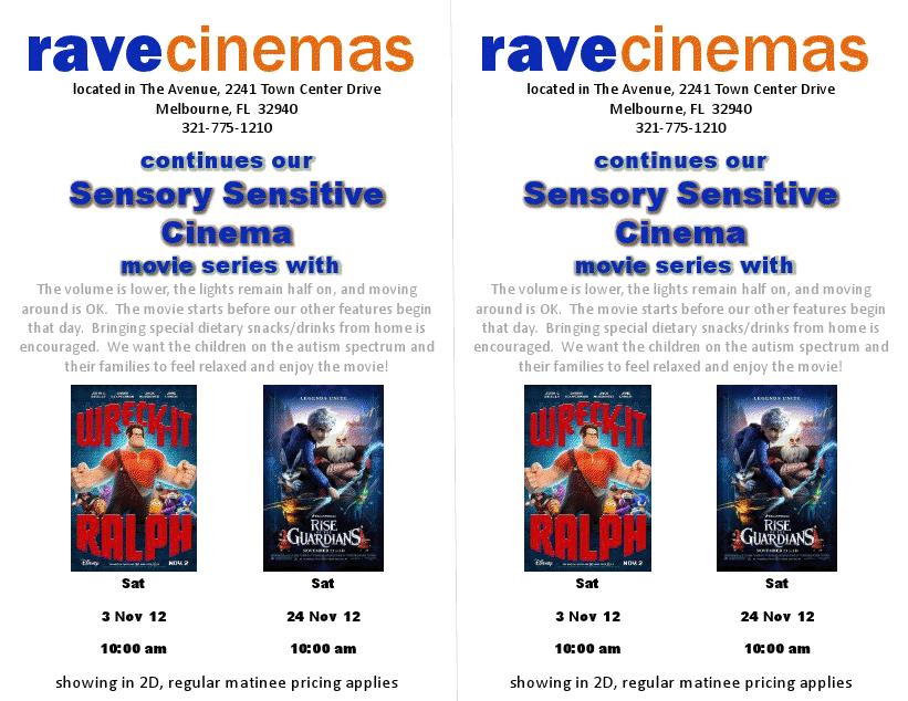 The rave viera movie times