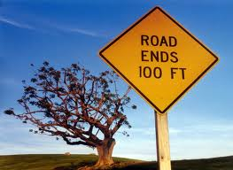 end of a road